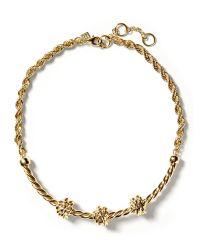 Banana Republic | Metallic Knot Rope Necklace | Lyst