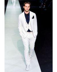 Giorgio Armani - White Techno Honeycomb Gaufré Jacket for Men - Lyst