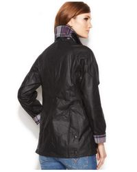 Barbour Black Beadnell Waxed Anorak Jacket