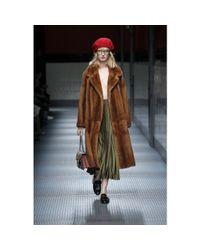 Gucci Brown Fur Coat