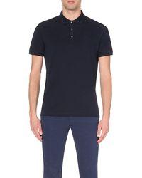 Corneliani | Blue Cotton-piqué Polo Shirt for Men | Lyst