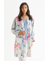 Oasis White Kimono Orchid Duster