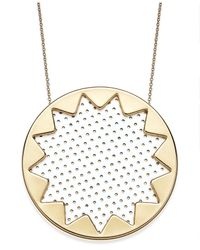 House of Harlow 1960 | Metallic Gold-tone Patent Leather Sunburst Pendant Necklace | Lyst