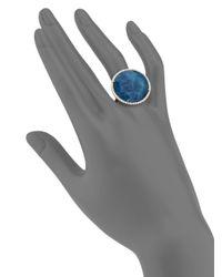Meira T Blue Apatite, White Topaz, Diamond & 14k Yellow Gold Cocktail Ring