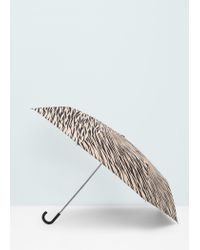 Mango - Black Folding Umbrella - Lyst