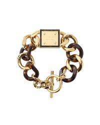 Michael Kors Metallic Tortoise Curb Bracelet