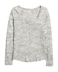 H&M Gray Henley Shirt