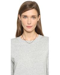 Ela Rae | Metallic Libi Choker Necklace | Lyst