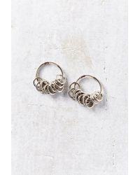 Urban Outfitters - Metallic Many Rings Hoop Earring - Lyst