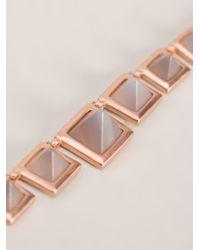 Eddie Borgo - Metallic Gemstone Pyramid Necklace - Lyst