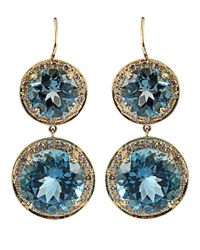 Andrea Fohrman | London Blue Topaz Earrings | Lyst