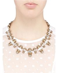 Lulu Frost Metallic 'phantom' Crystal Pavé Baguette Charm Necklace