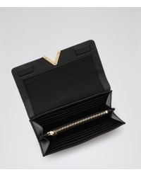 Reiss - Black Chaucer Leather Fold Wallet - Lyst