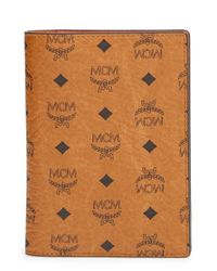 MCM | Brown 'color Visetos' Passport Holder | Lyst