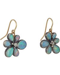 Judy Geib - Multicolor Opal & Diamond Wildflower Drop Earrings - Lyst