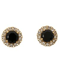 kate spade new york | Black Secret Garden Stud Earrings | Lyst