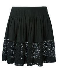 N°21 Black 'circle' Skirt