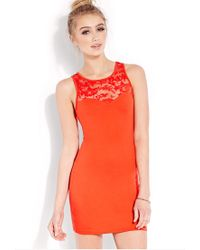 Forever 21 - Red Sweet Side Bodycon Dress - Lyst