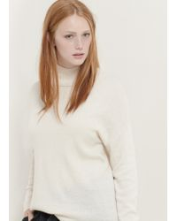Violeta by Mango - Pink Funnel Neck Sweater - Lyst