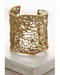Alkemie - Metallic Sea Fan Cuff - Lyst