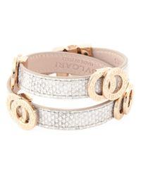 BVLGARI Metallic Double Coiled Wrap Bracelet
