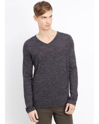 Vince - Gray Thermal V Neck Cardigan for Men - Lyst