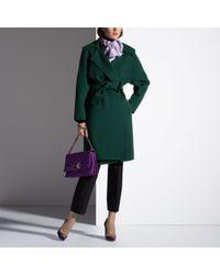 Bally Green Kimono Sleeve Coat