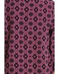 Forever 21 - Purple Ornate Floral Print Jacket - Lyst