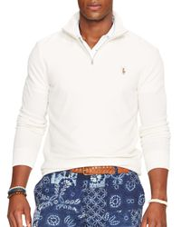 Ralph Lauren - White Polo Half-zip Pima Mockneck Pullover for Men - Lyst