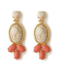 Lele Sadoughi | Orange Coral Feathered Fan Earrings | Lyst