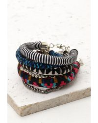 Forever 21 | Multicolor Embroidered Cord Bracelet Set | Lyst