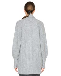 James Perse Gray Ribbed Cashmere Cardigan