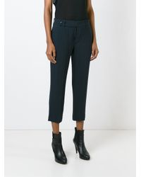 Rick Owens - Blue Cropped Trousers - Lyst