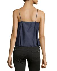 F.t.b By Fade To Blue Blue Pleated Bubble Camisole