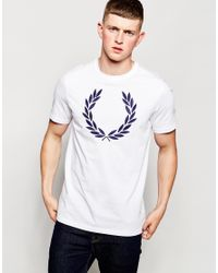 Fred Perry T-shirt With Laurel Wreath Logo White for men