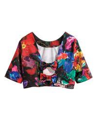 H&M Multicolor Crop Top