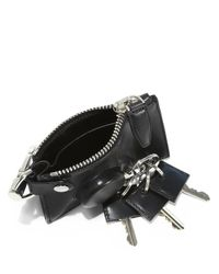 Alexander Wang - Black Runway Zip Pouch With Key Ring/Silvertone - Lyst