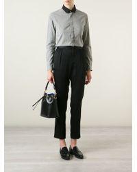 Saint Laurent Black Emmanuelle Small Calf-Leather Bucket Bag