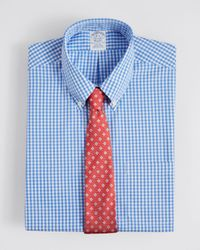 Brooks Brothers | Blue Gingham Check Dress Shirt for Men | Lyst