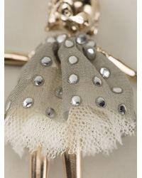Servane Gaxotte Metallic Bird Doll Necklace