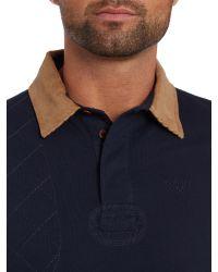 Barbour Blue Rosedale 100% Cotton Polo for men
