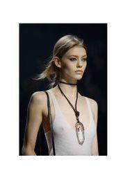 Lanvin - White Farida Crystal Pendant Necklace - Lyst