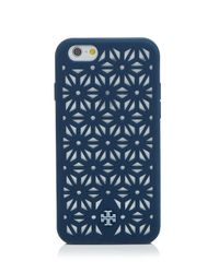 Tory Burch Blue Iphone 6 Case - Perforated Silicone