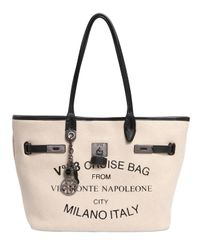 V73 | Natural Small Monte Napoleone Cotton Felt Tote | Lyst