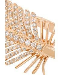 Anita Ko - Metallic Feather 18-karat Rose Gold Diamond Ring - Lyst