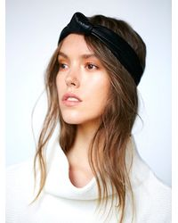 Free People | Black Womens Knotted Leather Headband | Lyst