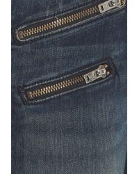 Rag & Bone - Blue Skinny Zipped Jeans - Lyst