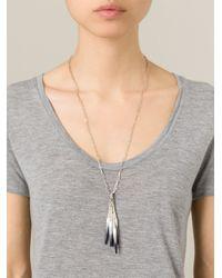 Isabel Marant - Blue Bone Necklace - Lyst