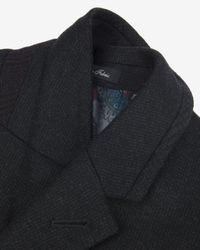 Ted Baker | Gray Textured Wool Overcoat for Men | Lyst