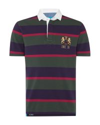 Howick | Purple Malden Stripe Short Sleeve Rugby Shirt for Men | Lyst